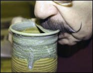 Using Harry's Moustache Cup